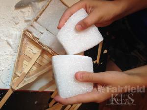bow using additional piece of styrofoam kids craft- Keri Lee Sereika