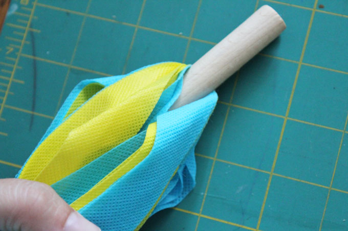 tuck into clothespin