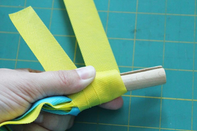 wrap clothespin with strip