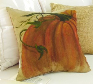 Pottery Barn Painted Pillow Pumpkin