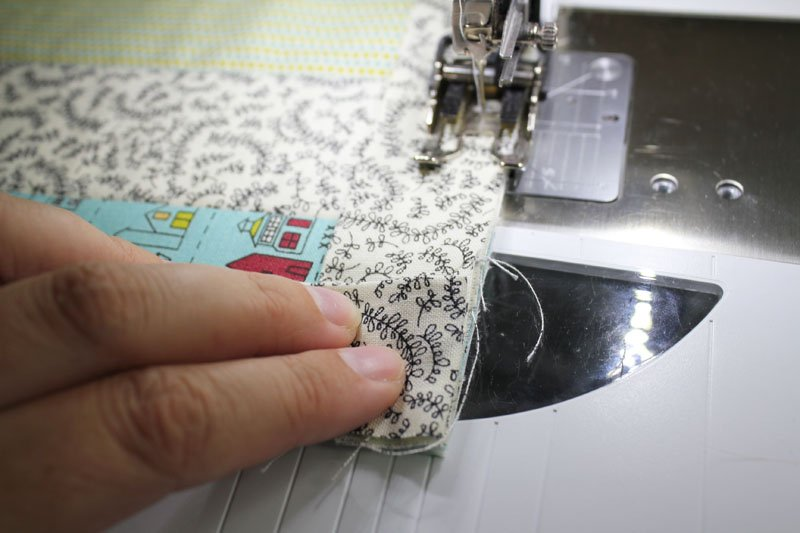 fold binding away from placemat