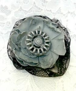grey tattered flower