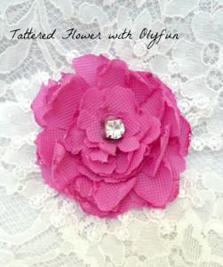 pink tattered flower