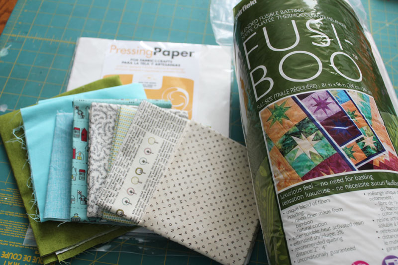 supplies for simple Quilt as you Go placemats