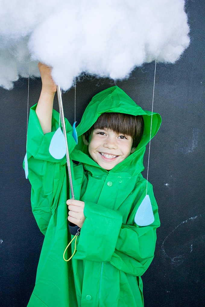 Rain Cloud Halloween Costume - Just add raincoat