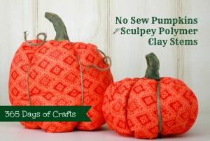 Sculpey Pumpkin stems - New sew fabric pumpkins
