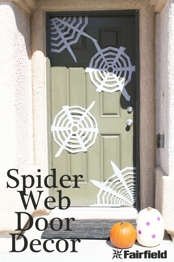 Spider Web Door Decor