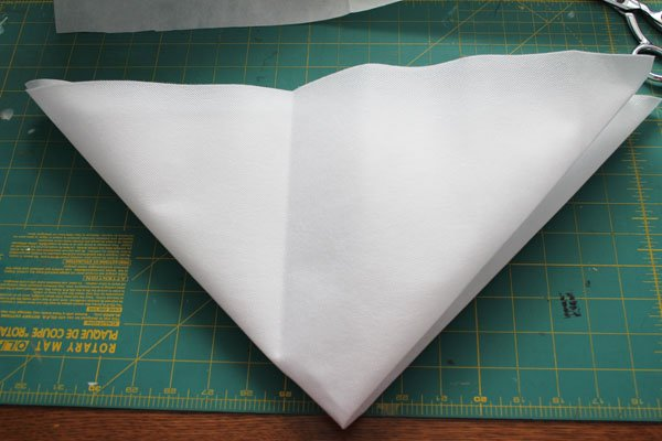 fold into smaller triangle
