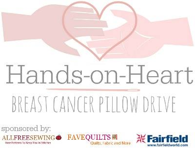 breast cancer pillow drive hands on heart post mastectomy pillow  drive