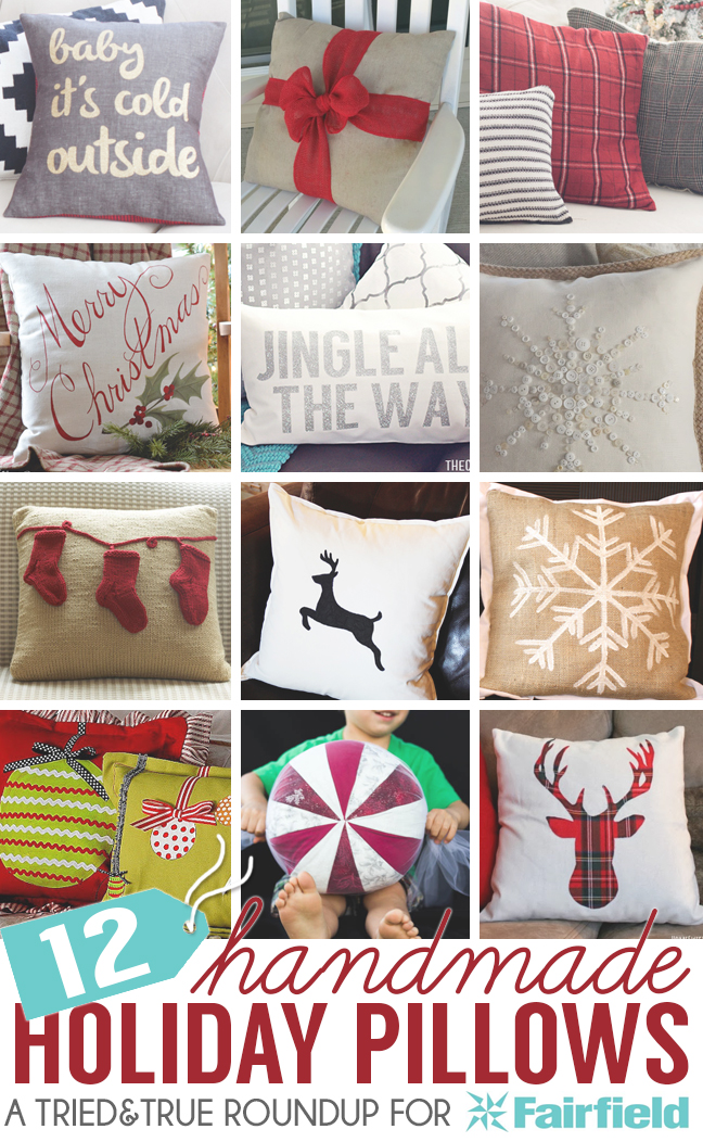 12 Handmade Holiday Pillows