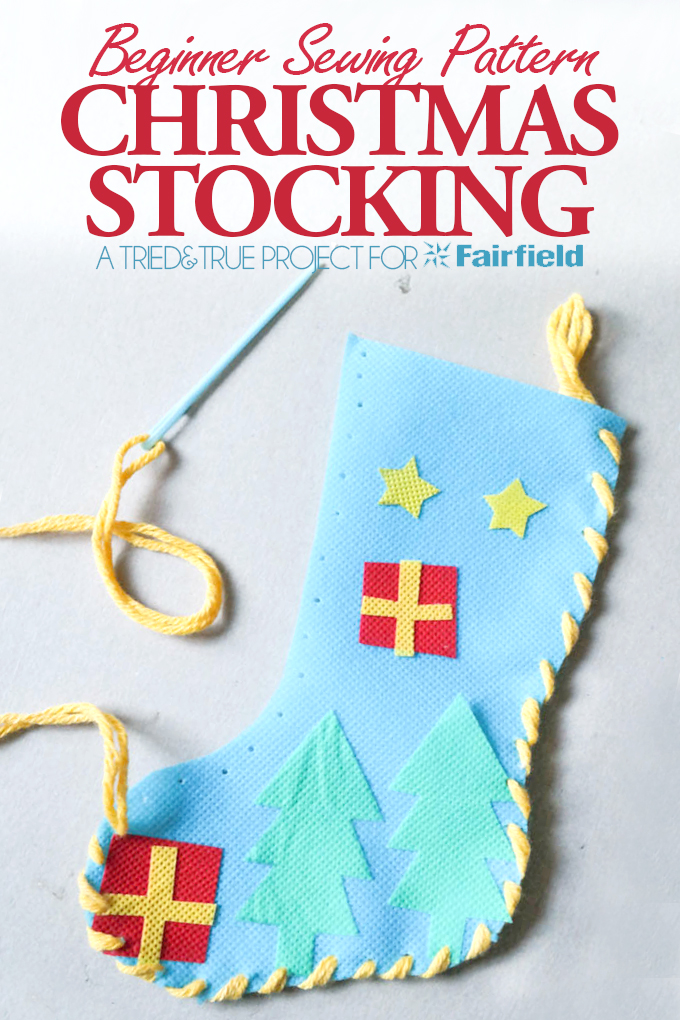 Christmas Stocking Beginner Sewing Pattern - Fairfield World Blog