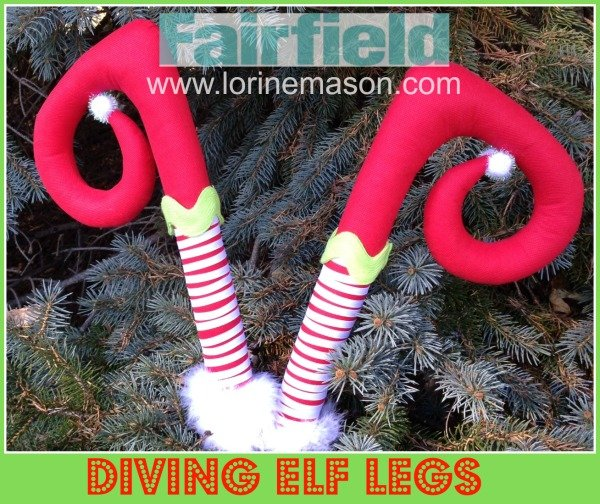 lets hope this little guy is simply adjusting the presents under the tree easy to create diving elf legs