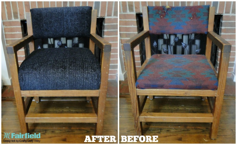 DIY Chair Foam and Fabric Update - AFTER AND BEFORE