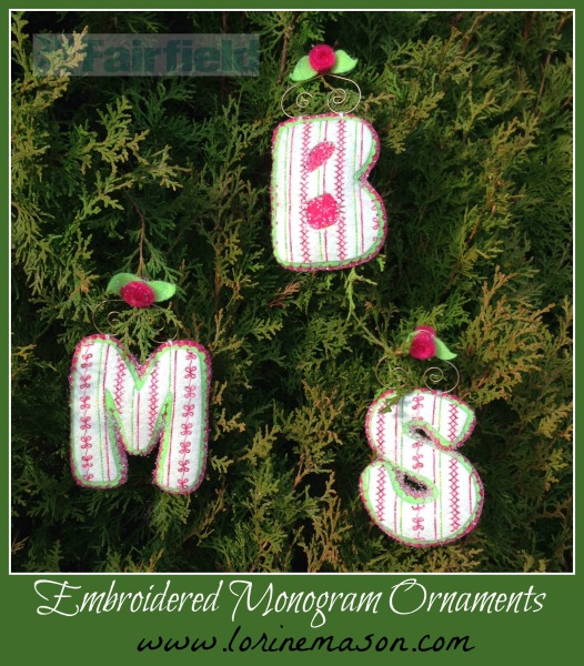 Embroidered Monogram Ornaments watermarked
