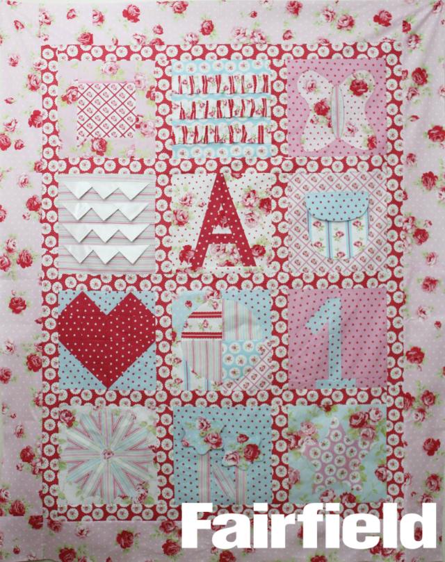 2015 farifield Baby Sampler Quilt BOM Block of the month farifield-baby-sample-quilt-lulu-roses-810x1024
