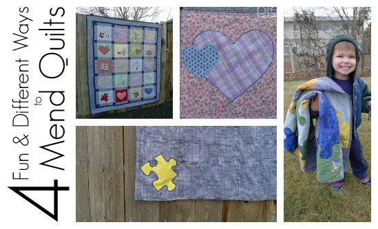 4 Fun Ways to Mend Well-Loved Quilts - Fairfield World Blog : how to patch a quilt - Adamdwight.com