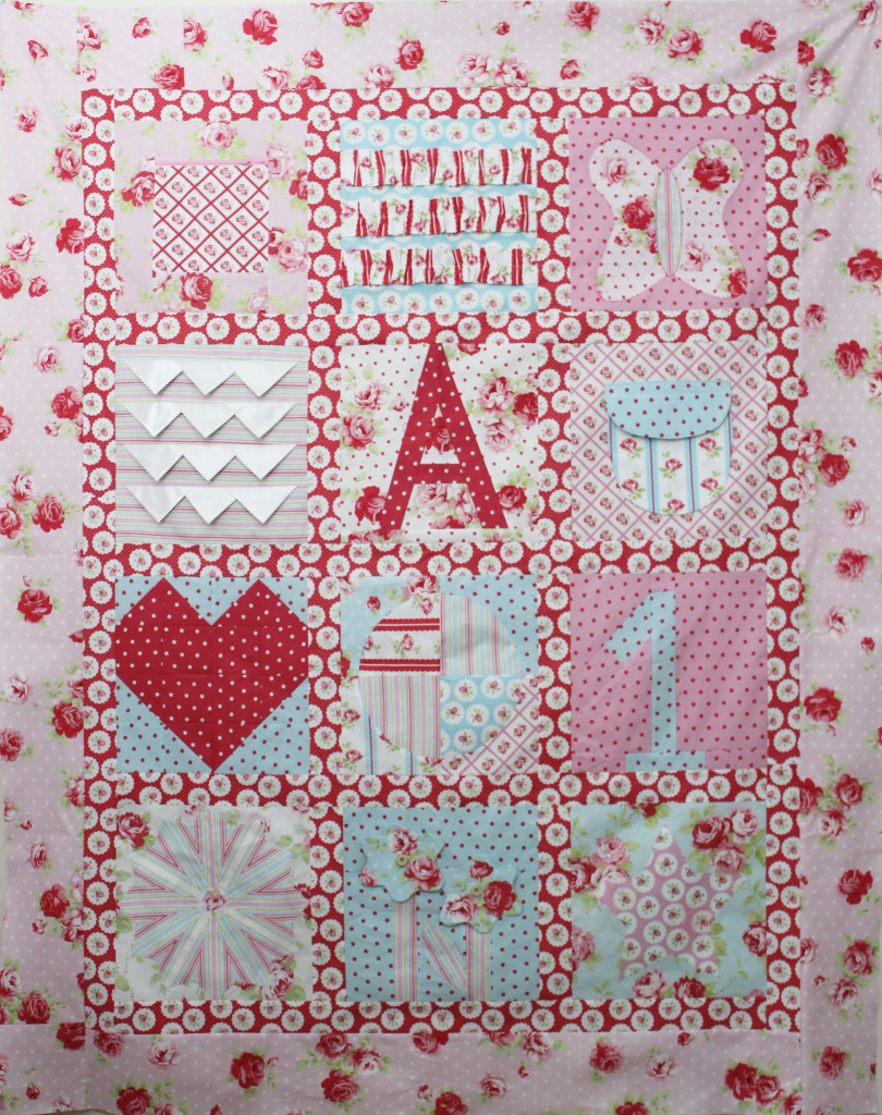 farifield baby sample quilt lulu roses 2015 farifield Baby Sampler Quilt BOM Block of the month