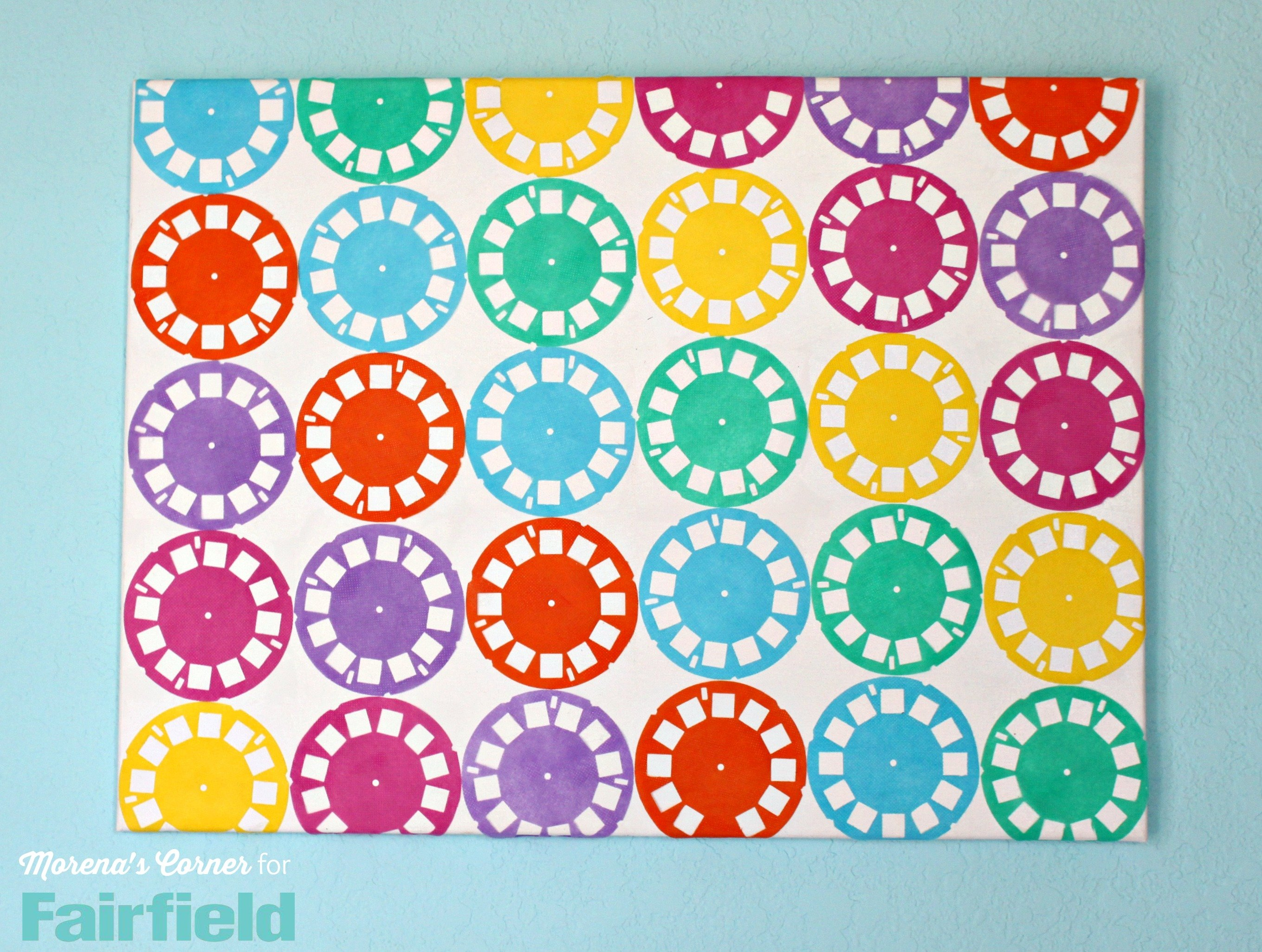 Fabric Wall Art colorful wall art made with oly*fun fabric - fairfield world blog
