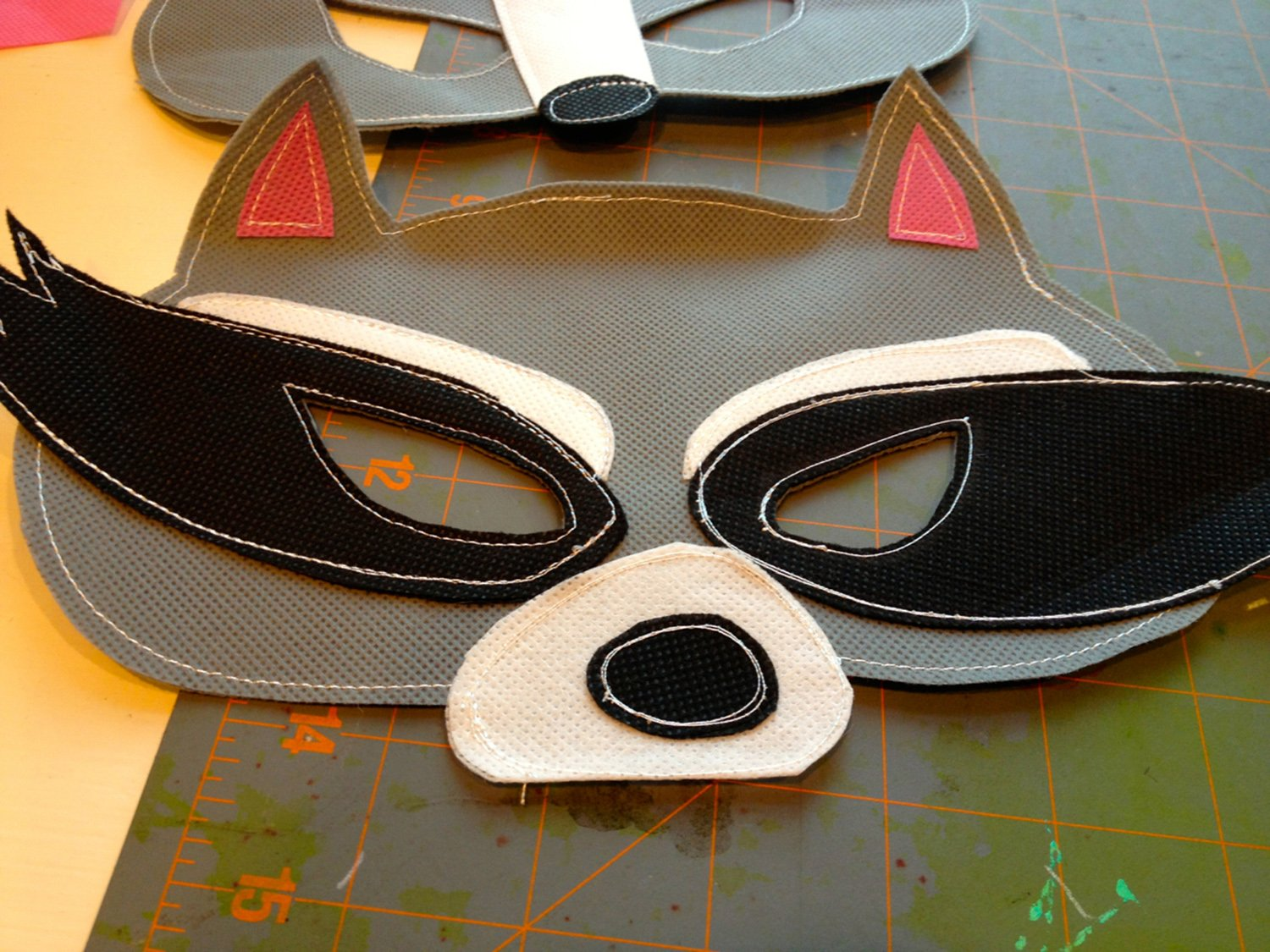 Raccoon Mask, Halloween Blog Bash, Creative Costume Hop