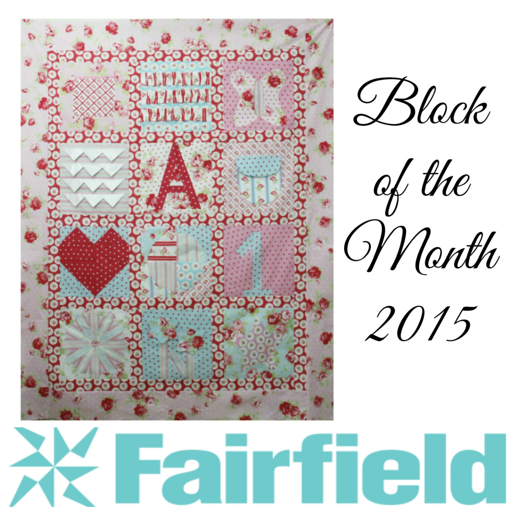 BOM Quilt Block of the Month Fairfield World Lulu Rose